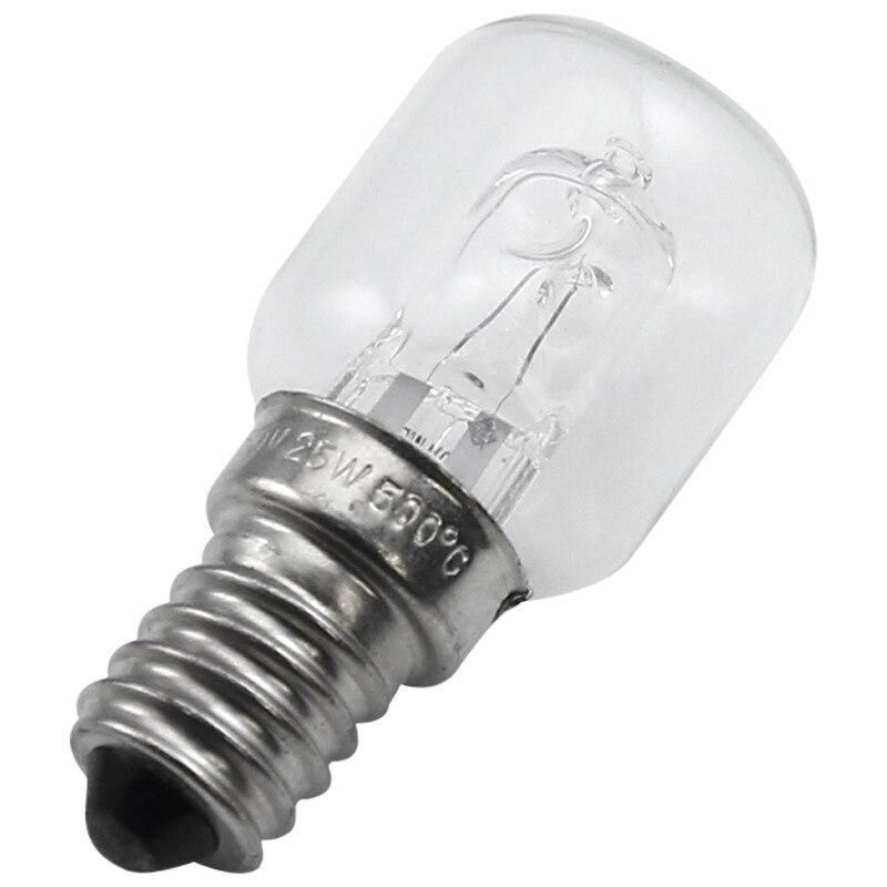 E14 High Temperature Bulb 500 Degrees 25W Halogen Bubble Oven Bulb E14 250V 25W Quartz Bulb