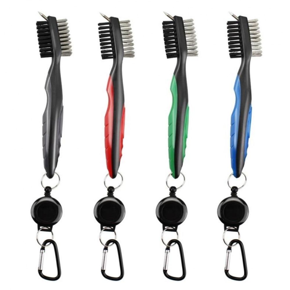 Golf Multifunctional Double-sided Brush Club Brush Golf Club Cleaning Brush Nylon Steel Hair Brush Golf Supplies