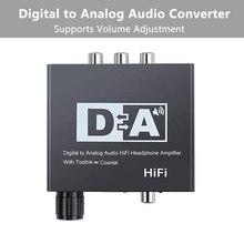 Convertidor de Audio Digital a analógico Coaxial Toslink óptico a RCA analógica L/R Adaptador de Audio Jack de 3,5mm para xbox HD DVD blu ray PS3