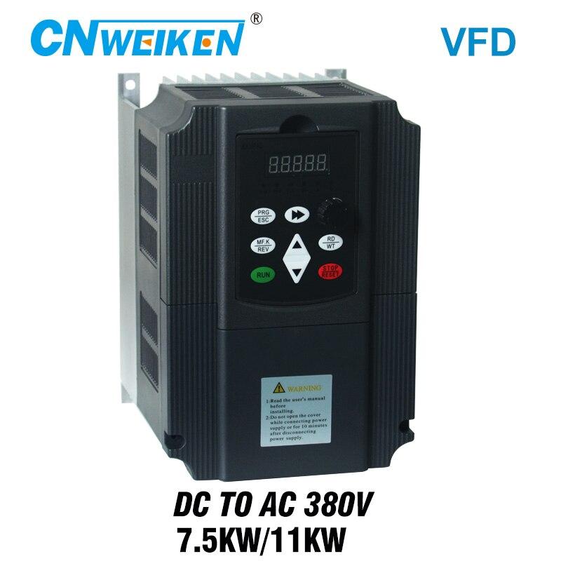Inversor fotovoltaico DC a CA convertidor trifásico 380V kW/11kw con bomba solar de Control MPPT VFD /pv inversor solar