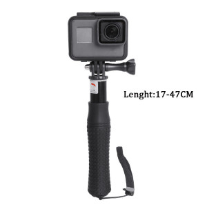 Image 2 - Extendable Waterproof Selfie Stick Monopod Hand Grip Tripod Holder for GoPro Hero 8 7 6 5 SJCAM Yi 4K Action Camera Accessories