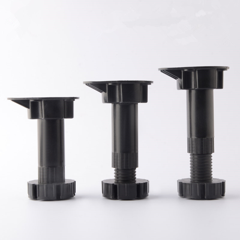 8pcs Thicken PP Adjustable Furniture Legs Height Adjustable Support Table Feet For Cabinet Table Sofa Bed  Hardware Accessories