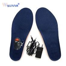 Зимняя обувь с подогревом Стелька перезаряжаемая теплая обувь Winner беспроводной пульт дистанционного управления подошвы колодки держать ноги в тепле