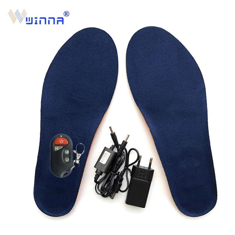 Palmilha de Aquecimento Vencedor sem Fio Manter os Pés Inverno Sapato Inicialização Recarregável Heatde Sapatos Controle Remoto Solas Almofada Quentes