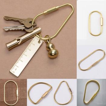 Латунный брелок с Замком D брелок Золотой походный Карабинер для выживания оборудование для кемпинга пряжки крючки Аксессуары для ключей