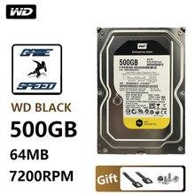 Wd 500g disco rígido preto desktop jogo gamer gamer disco mecânico preto porta serial 7200 a 64m