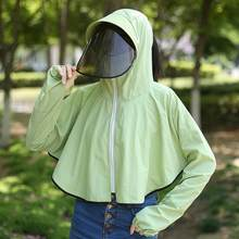 Summer Outdoor Protection Jacket Coat UV Unisex Cycling Outdoor Sun Shade Hat Isolation Coronavirus Softshell Jacket decathlon(China)