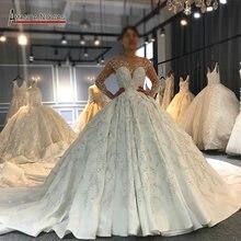 فستان زفاف فاخر من Amanda Novias ذو جودة عالية مصنوع حسب الطلب موديل 2020