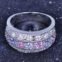 טבעת מקושטת באבני קריסטל צבעוניים - 6