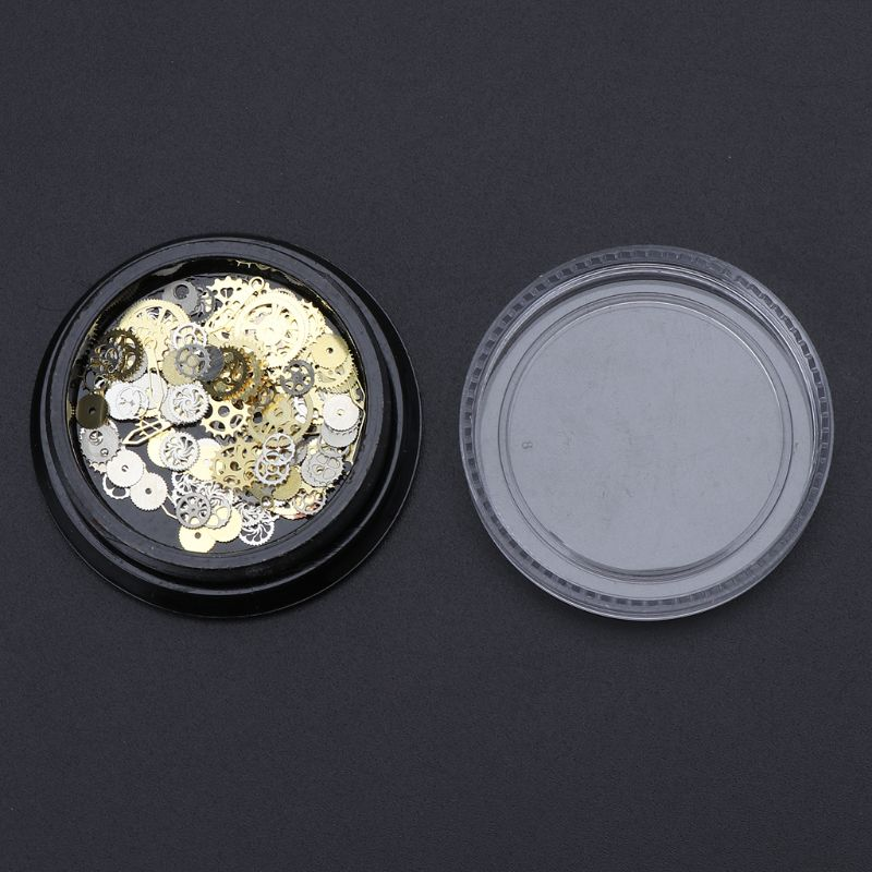 120Pcs Mixed Steampunk Cogs Gear Clock Charm UV Frame Resin Jewelry Fillings DIY Whosale&DropShip