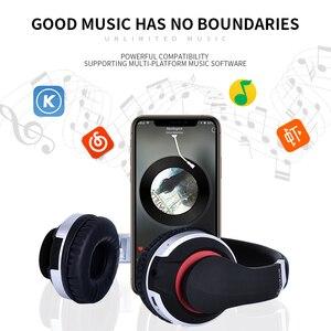 Image 5 - หูฟังหูฟัง HIFI หูฟังบลูทูธเพลง BASS รองรับ TF SD Card MIC NOISE Cancellation หูฟังสำหรับโทรศัพท์ PC แท็บเล็ต