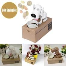 Bonito mealheiro fome comer cão moeda dinheiro armazenamento caixa de poupança segura choken robótico mecânico caixa de dinheiro moneybox