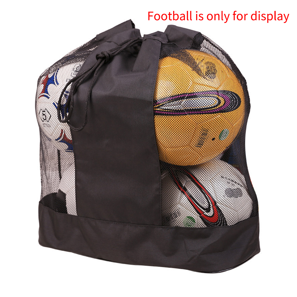 Single Shoulder Mesh Ball Bag Easy Carry Adjustable Strap Basketball Sack Soccer Oxford Cloth Outdoor Sports Equipment