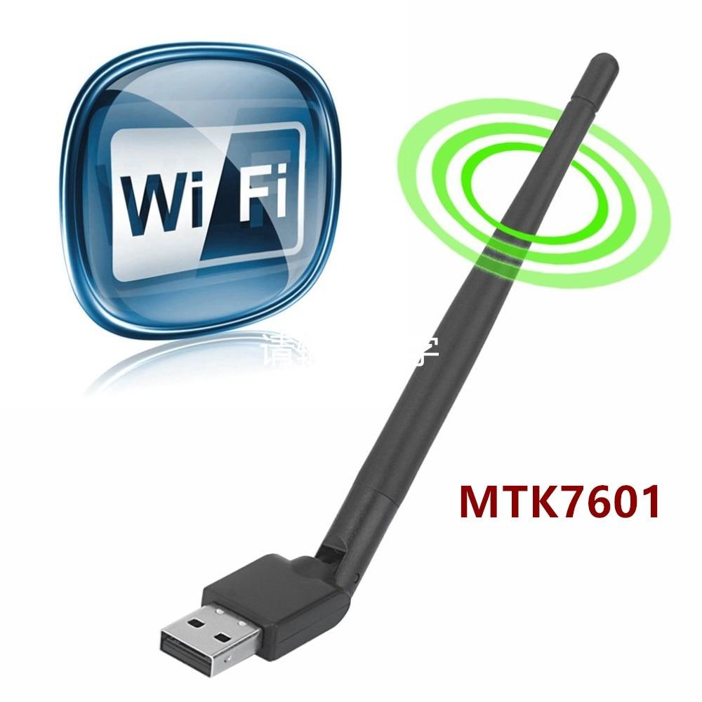 Rt5370 antena WiFi USB MTK7601 tarjeta de red inalámbrica USB 2,0 150Mbps 802.11b/g/n adaptador LAN con giratorio antena