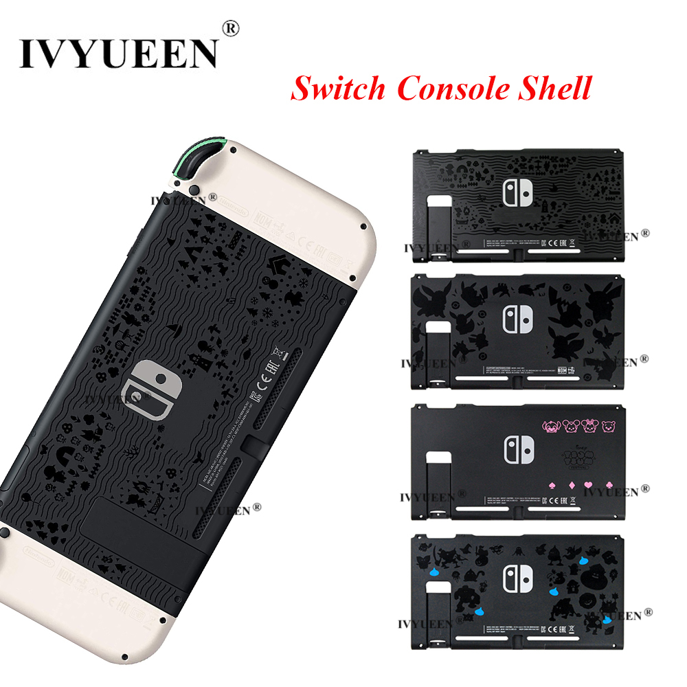 IVYUEEN For Nintend Switch Animal Crossing Console Replacement Housing Shell Cover For Nitendo Switch Front Back Faceplate Case