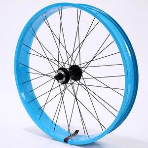 Image 1 - 자전거 바퀴 바퀴 26*4.0 합금 바퀴 산악 자전거 바퀴 알루미늄 합금 지방 자전거 속도 초경량 바퀴 무료 배송