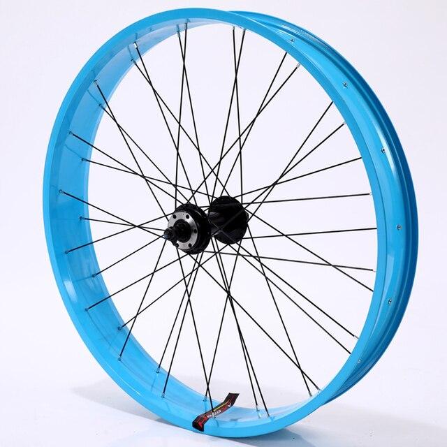 자전거 바퀴 바퀴 26*4.0 합금 바퀴 산악 자전거 바퀴 알루미늄 합금 지방 자전거 속도 초경량 바퀴 무료 배송