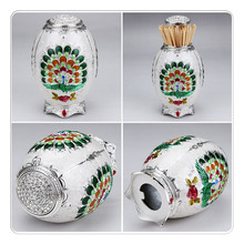 Metal Creative Toothpick Box Automatic Toothpick Holder Toothpick Dispenser Box Organizer European Style 70x105mm Table Decor цена 2017