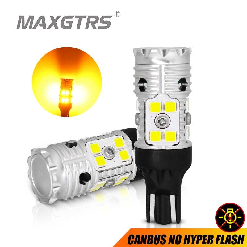2 шт., Автомобильные светодиодные лампы W16W T15 3030 SMD Canbus