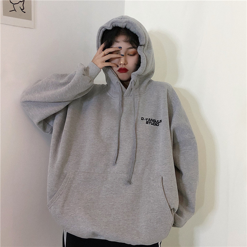 Bts Gray Color Hoodies Sweatshirt Casual School Wear Sudadera Mujer Bts Bangtan Bluza Damska XS To XLL Hoodies