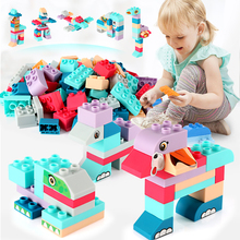 36-252PCS Baby Blocks Toys Soft Rubber Building Blocks  Baby Safe DIY Assemble Bricks Toys Gifts large particles baby soft rubber building blocks can bite high temperature boiled baby children toys