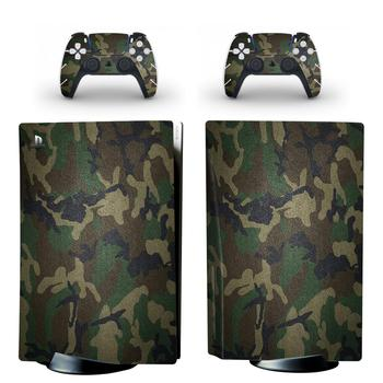 Camo PS5 Standard Disc Edition Skin Sticker Decal Cover for PlayStation 5 Console & Controller PS5 Skin Sticker Vinyl 1