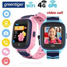 Greentiger a60 4g relógio inteligente crianças gps wifi sos bebê smartwatch crianças posição ip67 à prova ddfágua câmera passo vs df33 a36e y95