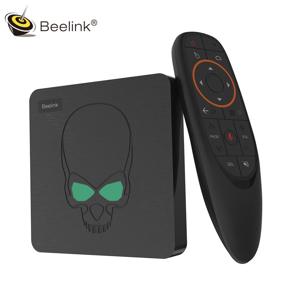 Beelink GT - King Android 9.0 TV Box Amlogic S922X 4GB 64GB 2.4G Voice Remote Control 1000Mbps 4K HD 2.4G + 5.8G WiFi USB3.0