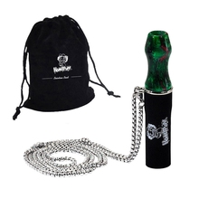 Hookah Mouthpiece Cigarette-Holder Water-Pipe Silicone with Steel-Chain Reusable Shisha