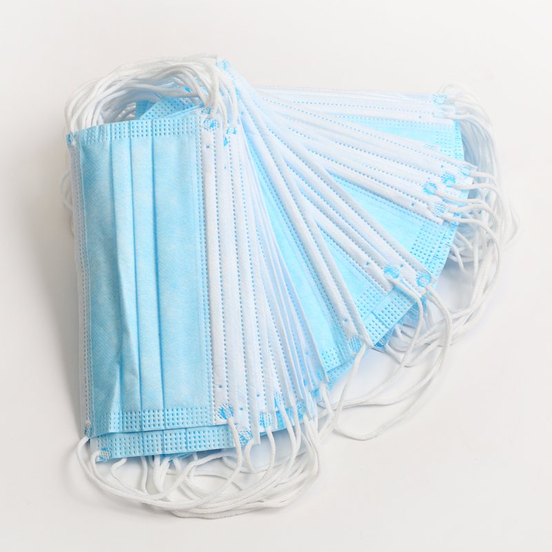50/100pcs Disposable Non-woven Mask 3Layer Dust Pollution Prevention Bacteria  Ear Hanging Meltblown Cloth Protective Mask