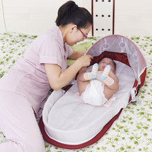 Nest Bed Crib Travel-Bed Baby Bassinet Girls Portable Cradle Isolation-Bed Anti-Mosquito