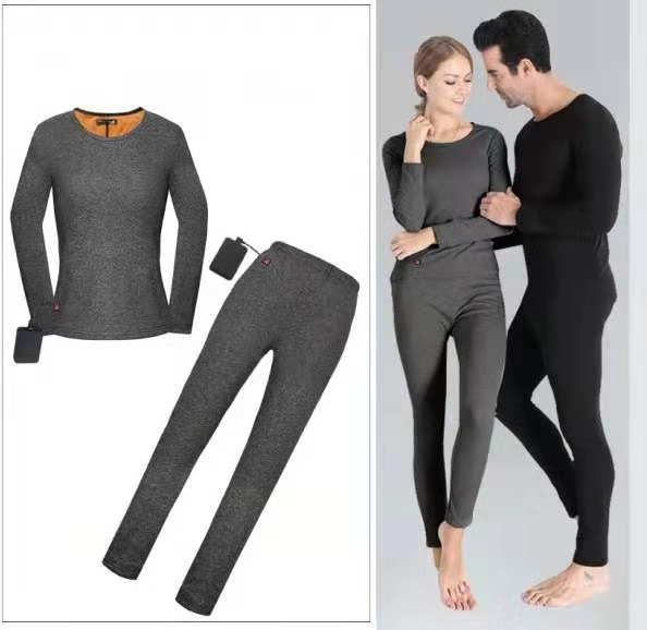Women Heated Jacket Motorcycle Electric Heating Jacket Electric USB Heated Thermal Underwear Set Keep Warm For Autumn Winter