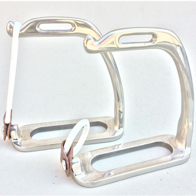 Stainless Steel Peacock Stirrup With Rubber Ring And Leather Strap Horse Stirrup Without Pad Horse Equipment - Free Shipping 4