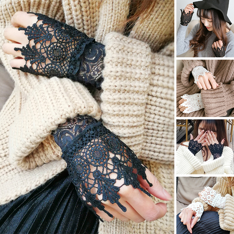 Cuff Fake Sleeves Sweater Decorative Sleeves Flounces Buttoned Wrist Sleeves
