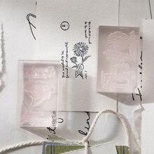 Stationery Stamp Acrylic Plant Vintage Flower Diary Yoofun Decorative Silica-Gel Transparent