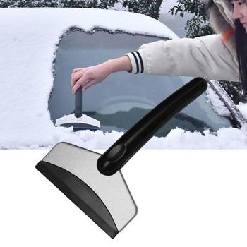Samochód ze stali nierdzewnej łopata do śniegu wielofunkcyjny odszranianie skrobak do śniegu narzędzie w zimie skrobanie lodu szkło usuwanie śniegu tanie i dobre opinie LISHEN ABS + Stainless steel