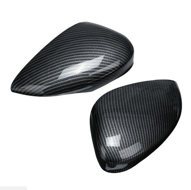 Новый и качественный L + R боковая задняя дверь корпус бокового зеркала из углеродного волокна стиль для Ford FIESTA MK7