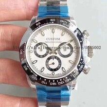 40mm Men's Watch Sapphire Luxury Brand Stainless Steel Case Waterproof Luminous