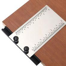 Neue 6 inch Edelstahl T-Regel Herrscher Kennzeichnung Regeln T-platz Loch Holzbearbeitung Werkzeug