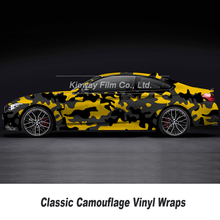 Car-Camouflage-Sticker Vinyl Wrapping Black for Various-Styles Fim 10m/18m Grey Yellow