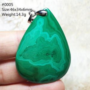 Image 4 - 100% Natuurlijke Groene Malachiet Chrysocolla Hanger Vrouwen Mannen Edelsteen Crystal Healing Stone Ketting Hanger Aaaaa