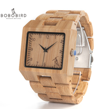 BOBO BIRD Wood Watches Men High Quality Bamboo Watch Men Lux