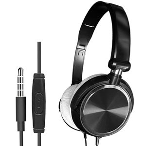 Image 2 - Wired Foldable Deep Bass On ear Earphones w/ Microphone 3.5mm Interface Headphones for Cellphones Laptop Tablet Mp4 Mp3 Headset