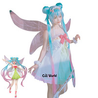 Pre sale Vocaloid Hatsune Miku 3nd Season The Spring of the Fairy Dress Outfit Anime Cosplay Costumes