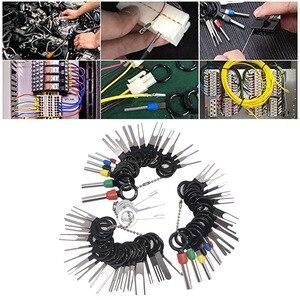 Image 2 - Kit de extracción de terminales de coche, pinza de presión para cables, Pin Extractor, herramientas profesionales de reparación, 60 unids/set