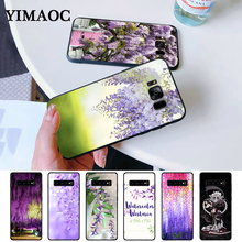 Wisteria Flowers Night Silicone Case for Samsung S6 Edge S7 S8 Plus S9 S10 S10e Note 8 9 10 M10 M20 M30