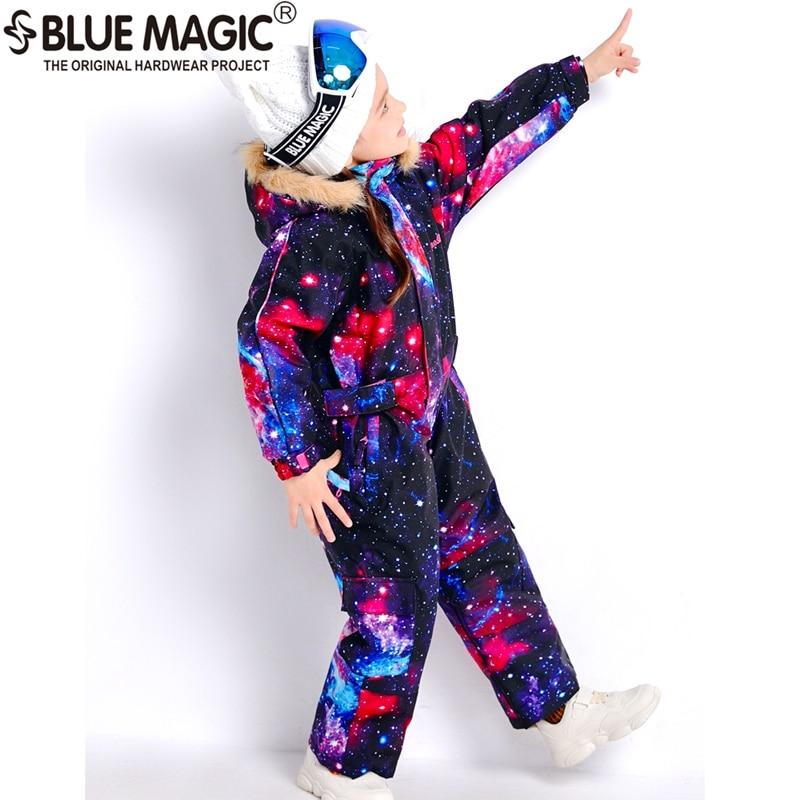 19 лыжных костюмов bluemagic для детей, водонепроницаемый комбинезон для прогулок на открытом воздухе для девочек и мальчиков, куртка для сноуборда Водонепроницаемый Лыжный комбинезон-30 градусов - Цвет: GLX