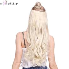 """SNOILITE 17/24/27/2"""" длинный кудрявый синтетический клип в целости и сохранности наращивание волос половина для наращивания на всю голову, парик, заколки, заколки для волос, трессы, заколки с 5 клипс, чёрный; коричневый"""
