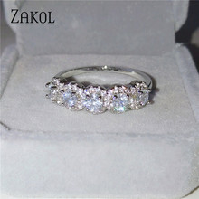 ZAKOL Trendy Women's Jewelry Hand Made Green Cubic Zirconia Olive Branch Ring for Women & Men Party Rings FSRL1225