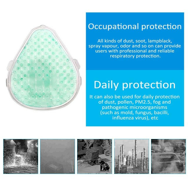 1PC S8 Dust Mask Anti Dust Flu Mask Fumes Filter Safety Face Protection Self Higher With 2 Filters 5